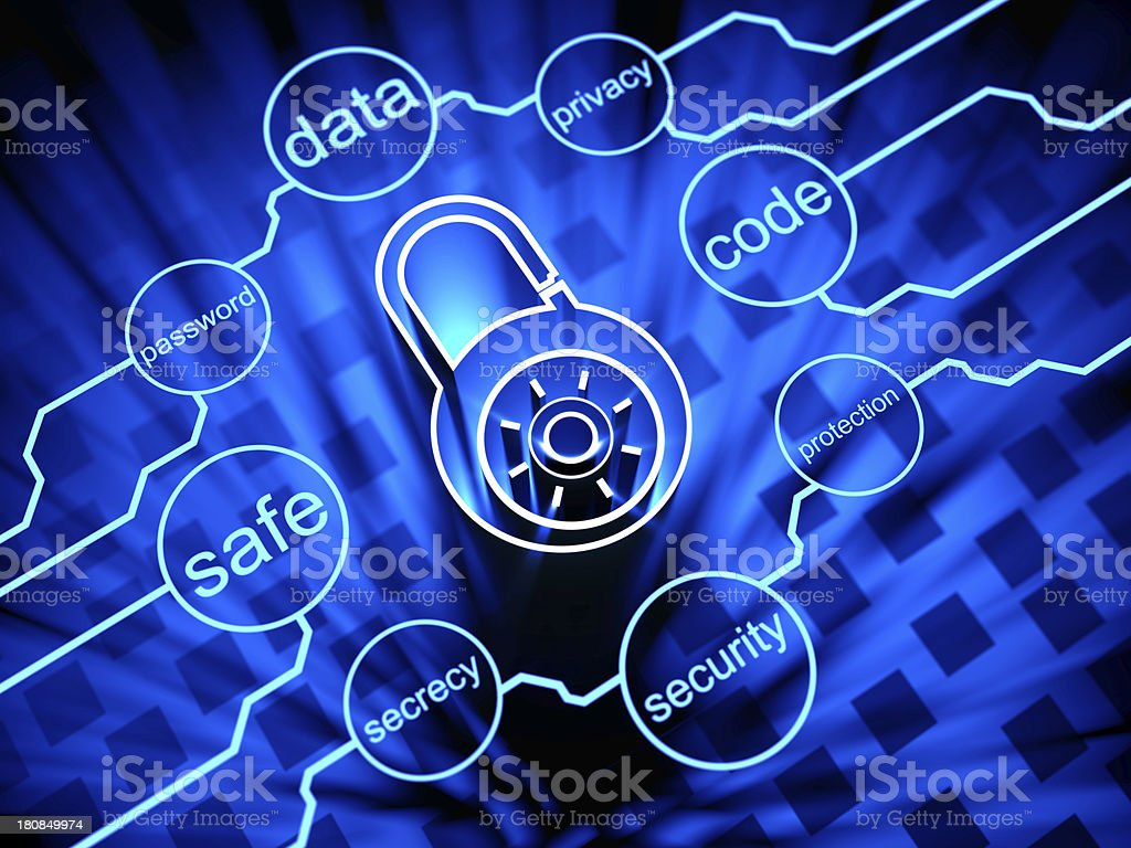 Internet Cyber Security royalty-free stock photo