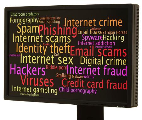 Internet Dangers Word Cloud Stock Photo - Download Image Now - iStock