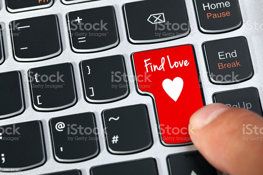Internet dating stock photo