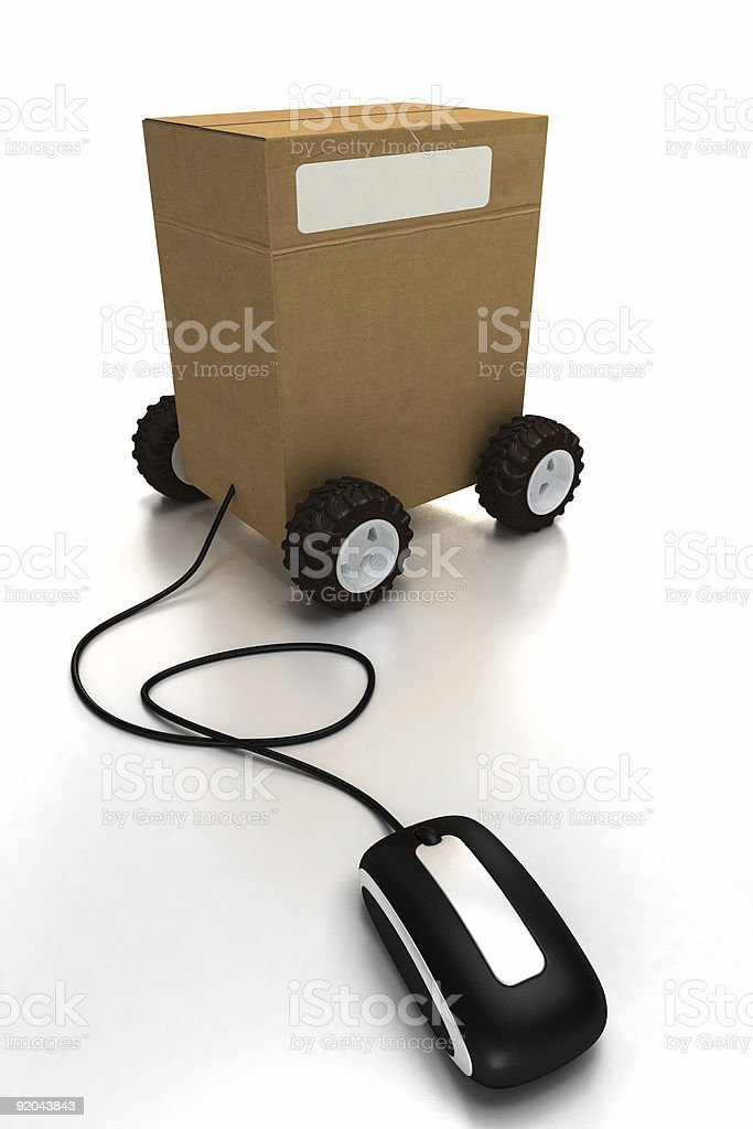 Internet delivery royalty-free stock photo