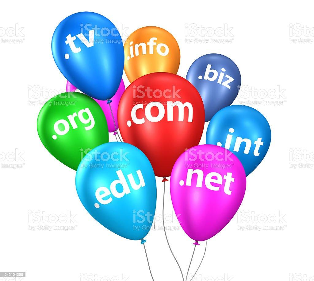 Internet Domain Name Web Concept stock photo
