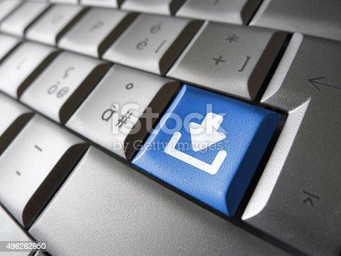 istock Internet Download Key Button 496262950