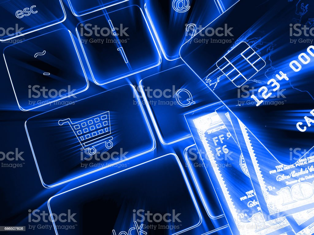 Internet electronic payment security foto stock royalty-free