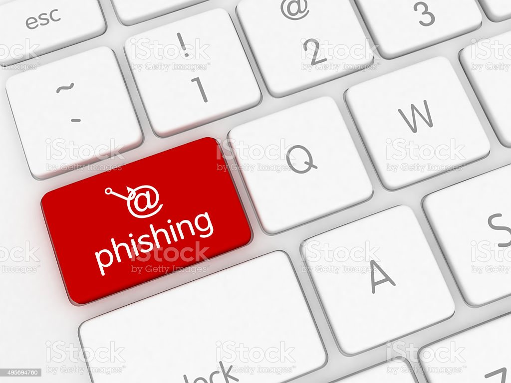 Internet email phishing stock photo