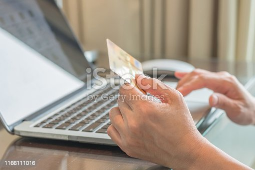 508915178istockphoto Internet e-payment banking service with consumer buyer using credit card paying purchase for online shopping business via intelligent digital communication 1166111016