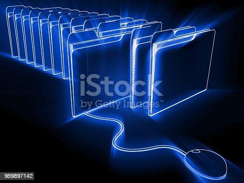 Internet file folder big data search