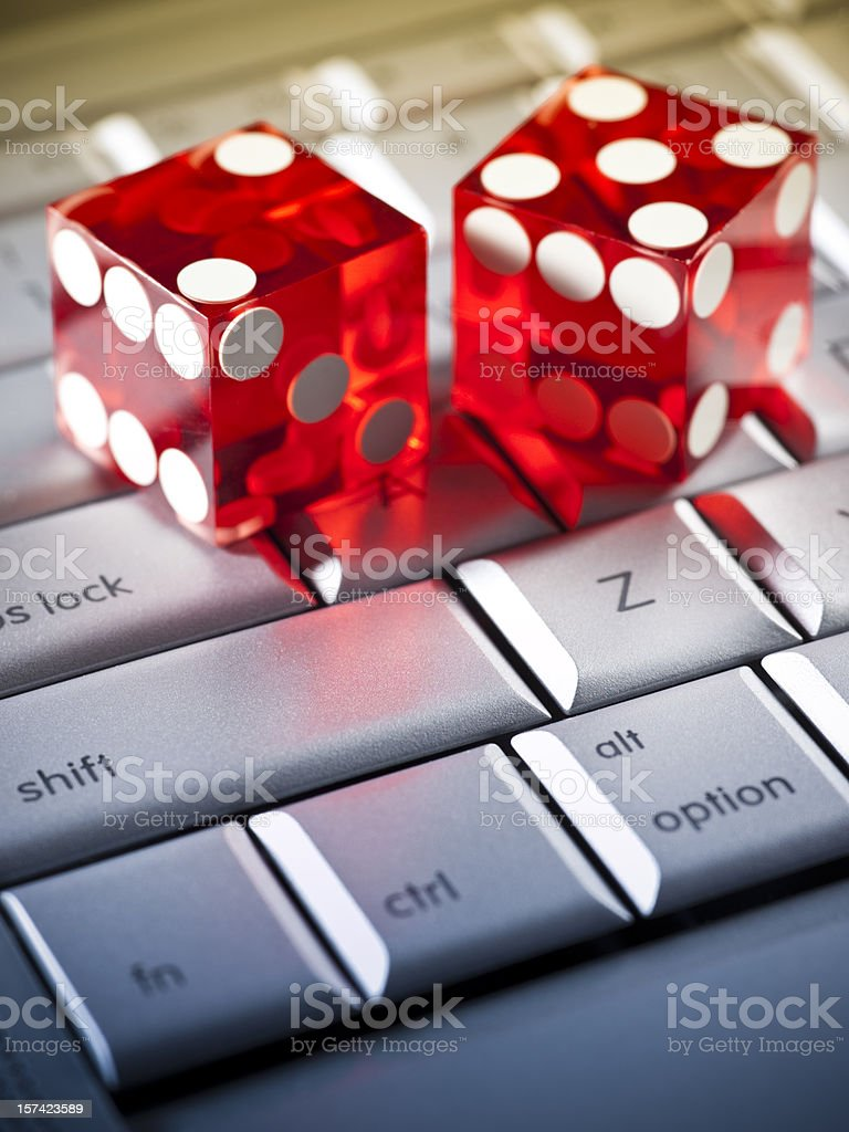 Internet gambling royalty-free stock photo