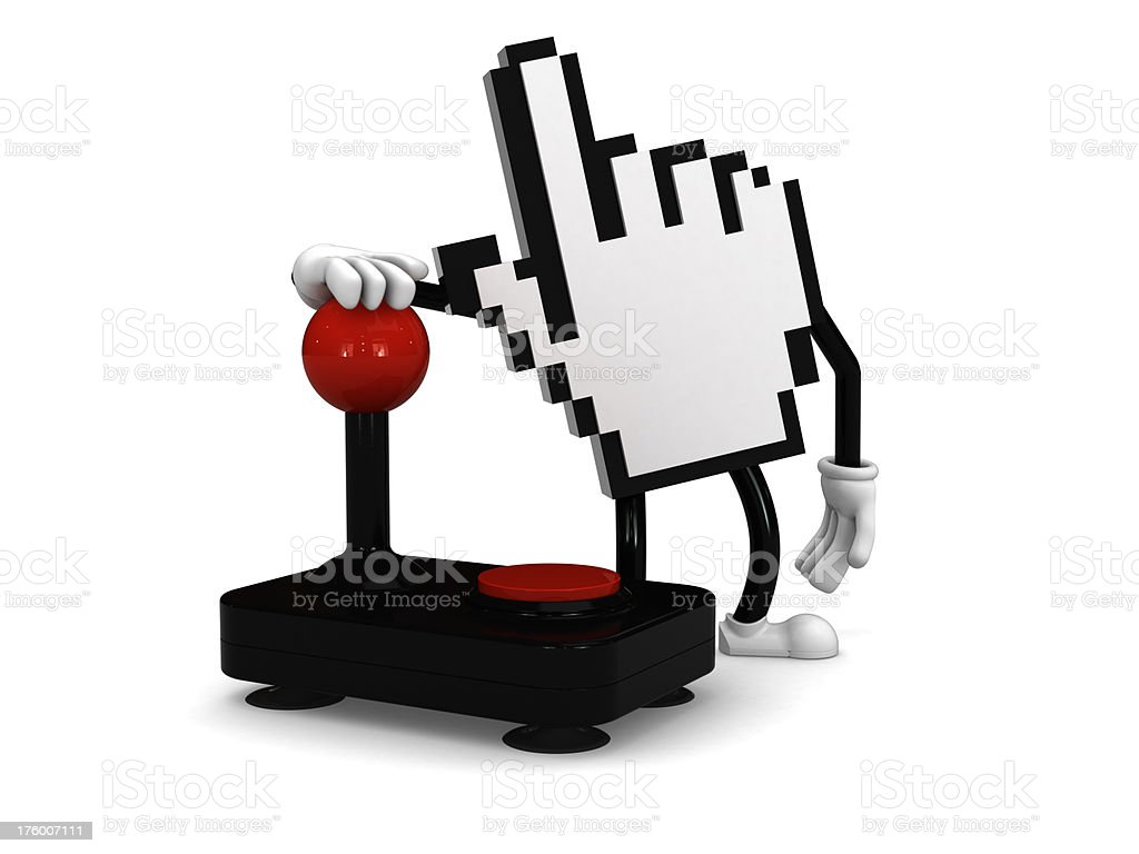 Internet game play royalty-free stock photo