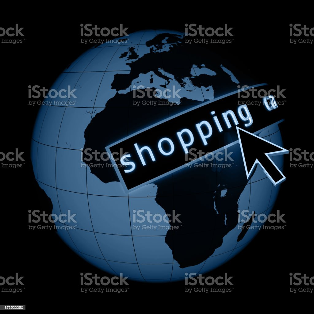 Internet global e-commerce shopping concept stock photo