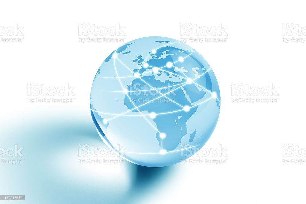 Internet Globe of Europe and Africa royalty-free stock photo