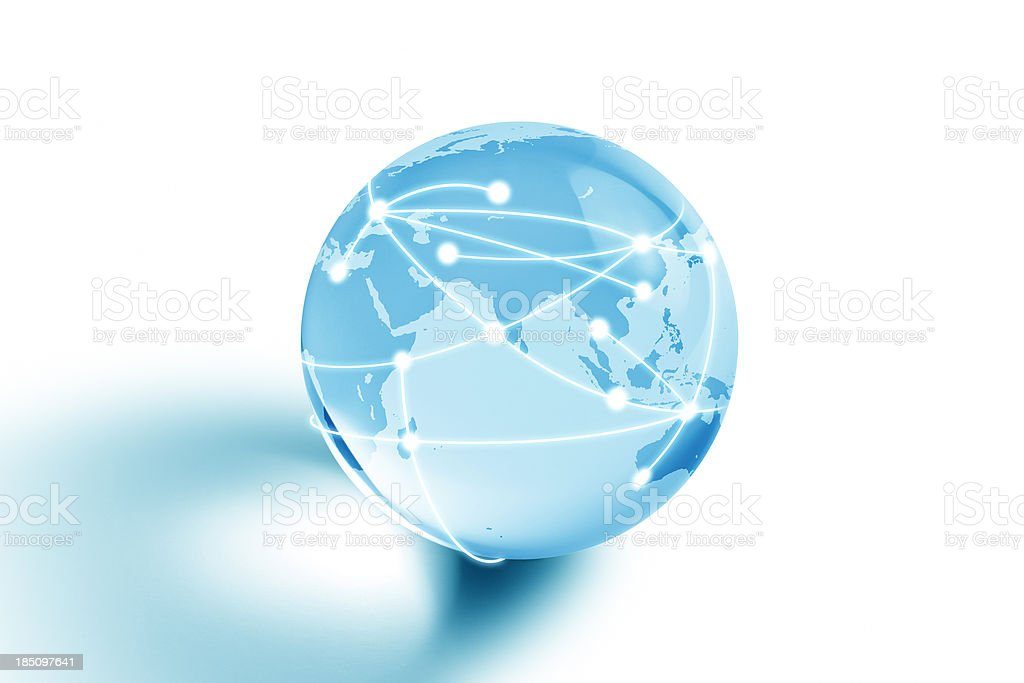 Internet Globe of Middle East royalty-free stock photo