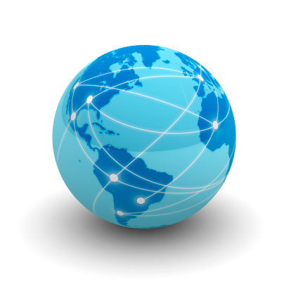 Internet Globe Stock Photo - Download Image Now