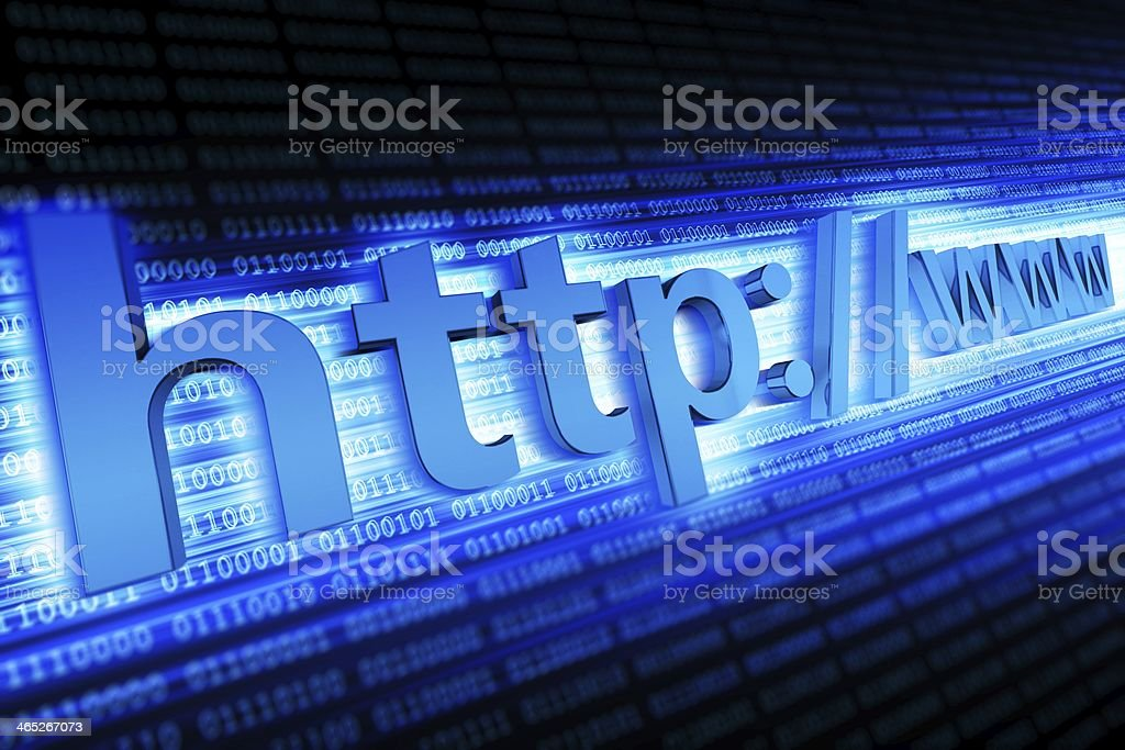 Internet Http Concept stock photo