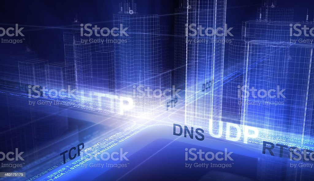 Internet in the city stock photo