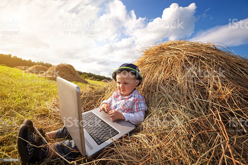 Internet in the Country royalty-free stock photo
