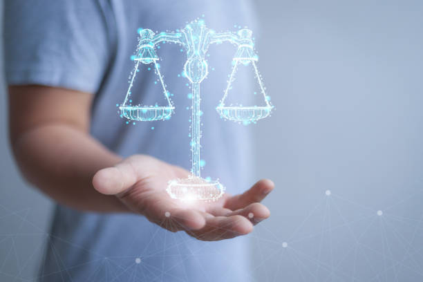 internet law concept - balance graphics foto e immagini stock