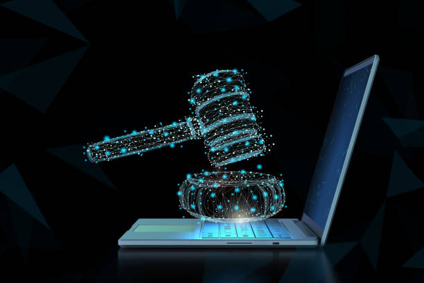 Internet law concept stock photo
