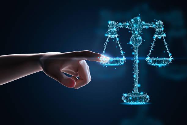 Internet law concept stock photo