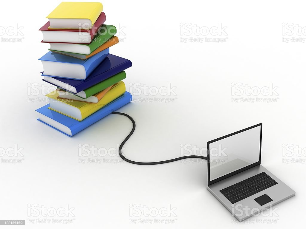 Internet Library royalty-free stock photo