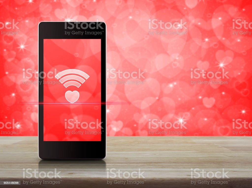 Conceito do Internet amor on-line, dia dos namorados - foto de acervo