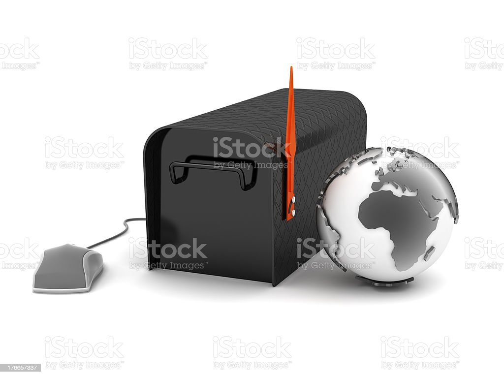 Internet mail - concept illustration royalty-free stock photo