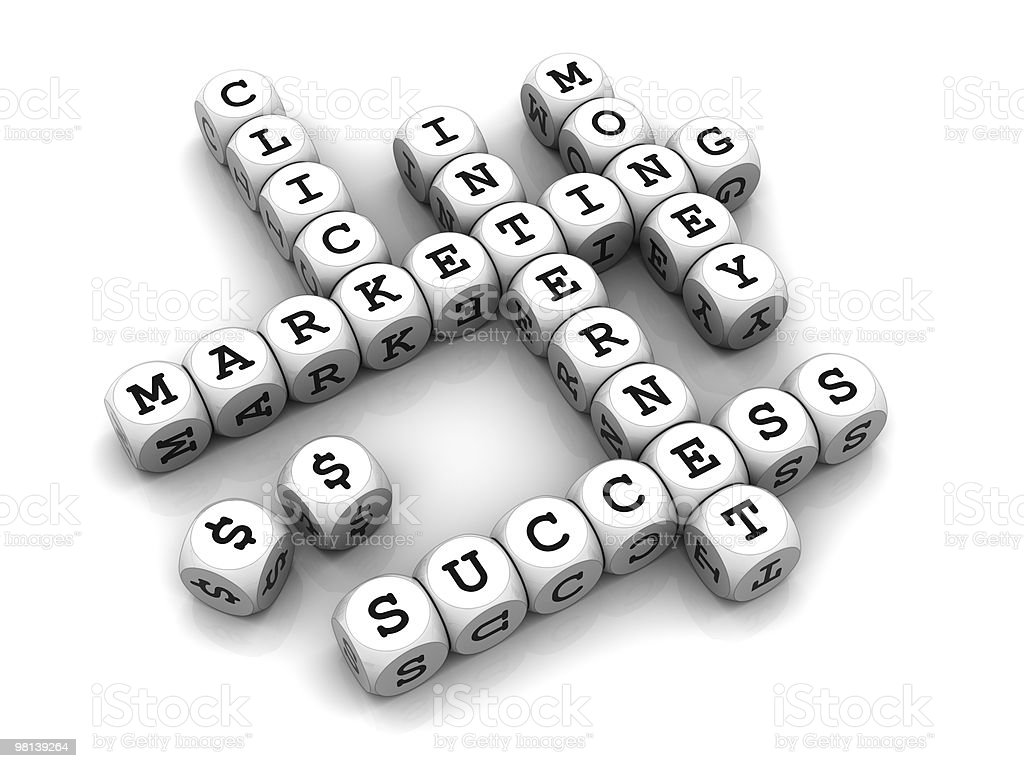 Internet Marketing - Dice Crossword game royalty-free stock photo
