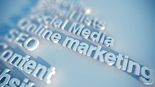 internet marketing - digital marketing stock photos and pictures