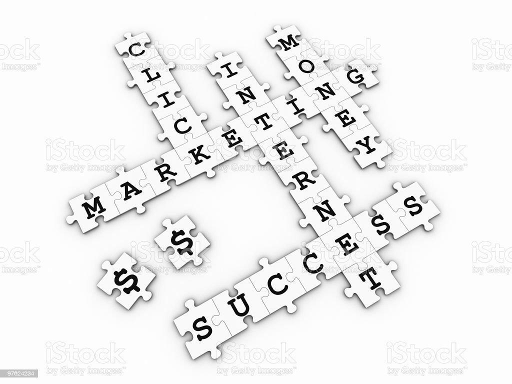 Internet Marketing - Puzzle Crossword Game royalty-free stock photo