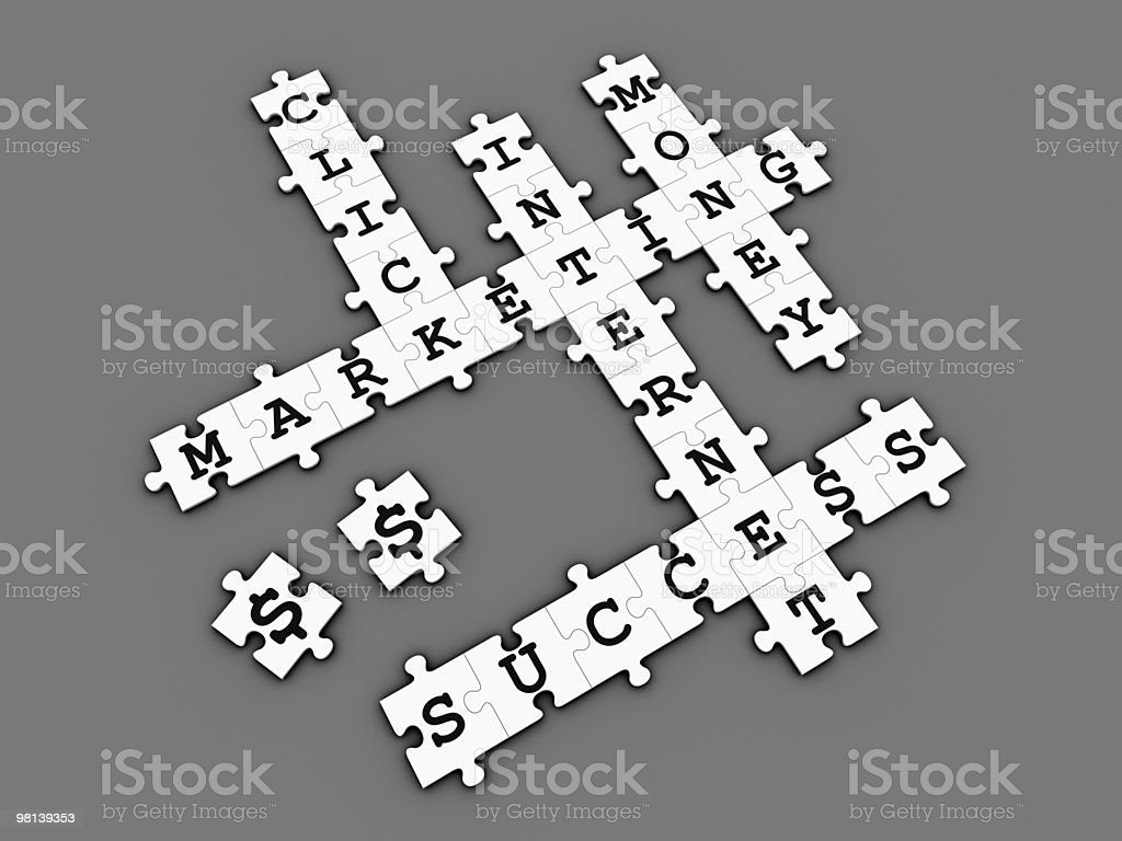 Internet Marketing - Puzzle Crossword Game (dark) royalty-free stock photo