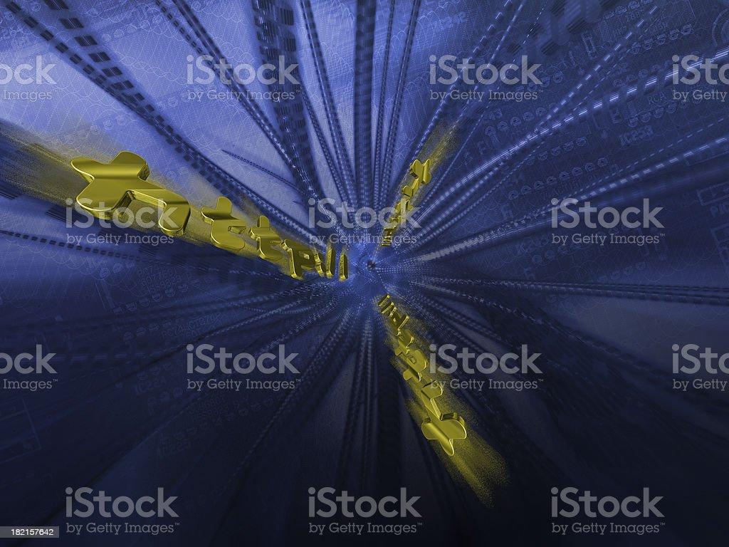 Internet Matrix 2 royalty-free stock photo