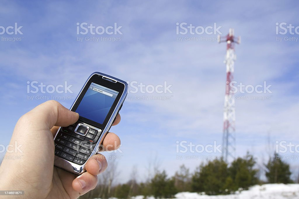 Internet mobile royalty-free stock photo