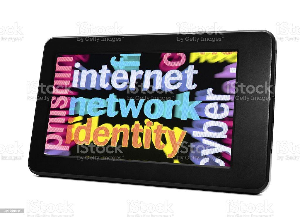Internet network identity royalty-free stock photo