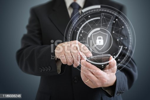 502195097istockphoto Internet network security data protection lock shield 1189335245