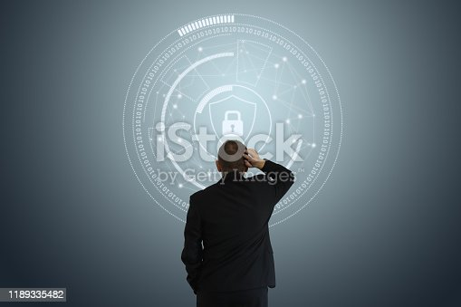 502195097istockphoto Internet network security data protection lock shield 1189335482