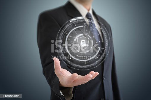 502195097istockphoto Internet network security data protection lock shield 1189581521