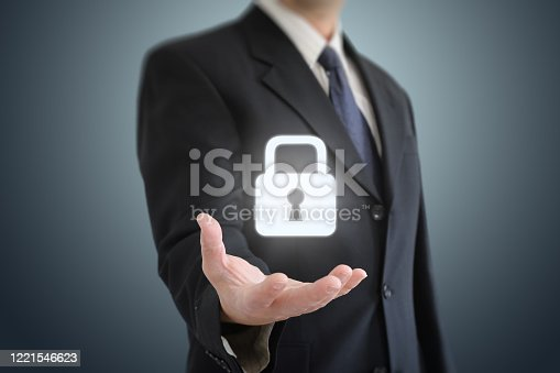 502195097 istock photo Internet network security data protection lock shield 1221546623