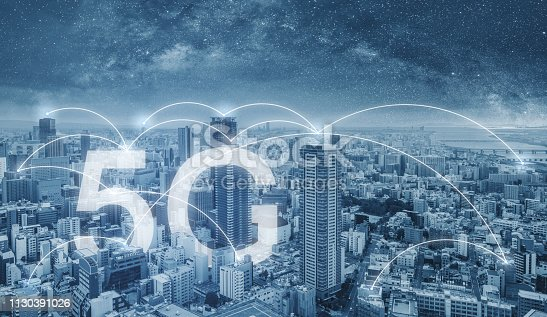 istock 5G internet networking in the city, cityscape and connections link 1130391026