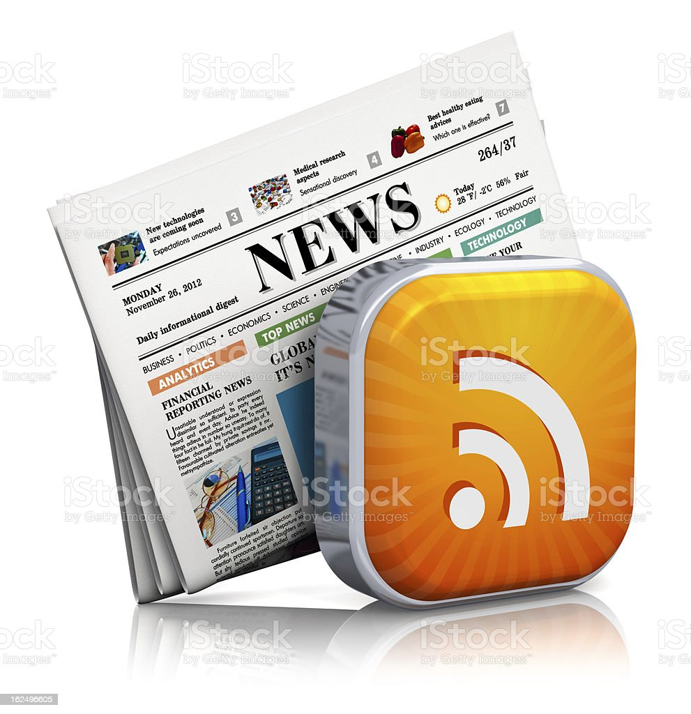 Internet news and RSS concept royalty-free stock photo