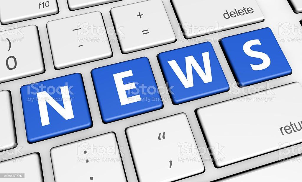 Internet News Computer Keyboard stock photo