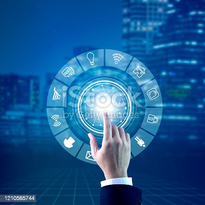 istock Internet of things and interrelated computing devices 1210565744