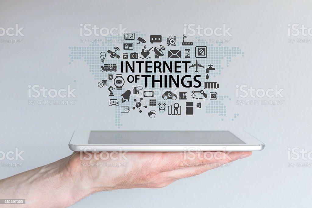 Internet Dinge (IOT) Hintergrund Konzept. - Lizenzfrei Abstrakt Stock-Foto