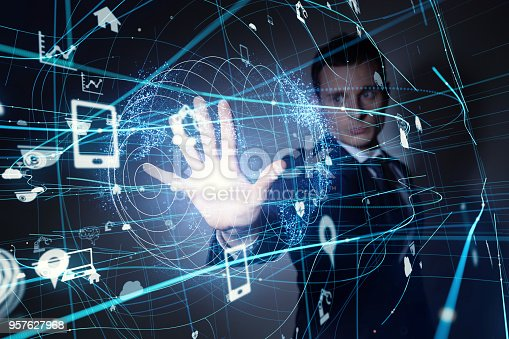 istock Internet of Things concept. 957627968
