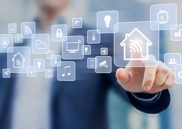 internet of things (iot) concept related to smart home automation - home automation stock pictures, royalty-free photos & images