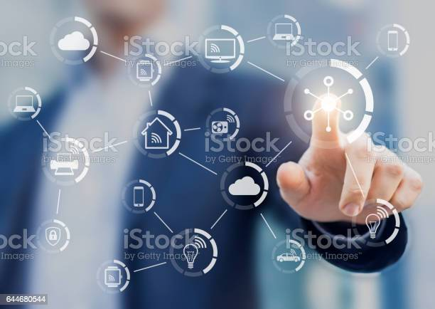 Internet of things concept with network of connected objects picture id644680544?b=1&k=6&m=644680544&s=612x612&h=hkmwhsml  wus9xlqg1atycuxyn8a5jgpqsxpv6kmhm=