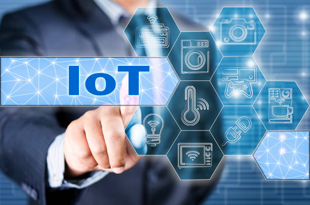 Internet of things - IOT stock photo