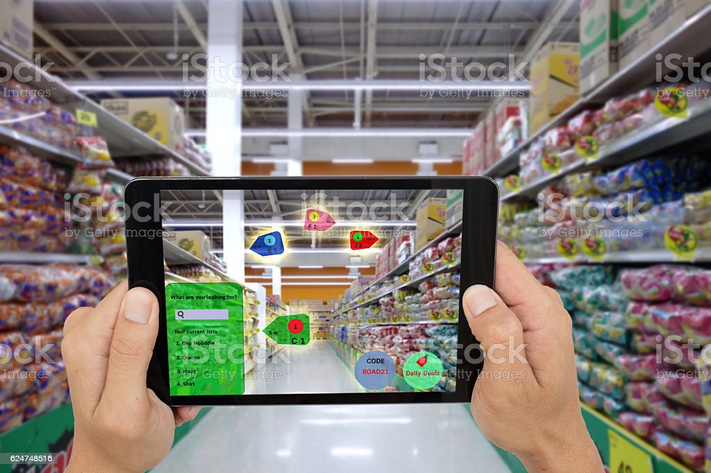 internet of things marketing concepts,smart augmented reality stock photo