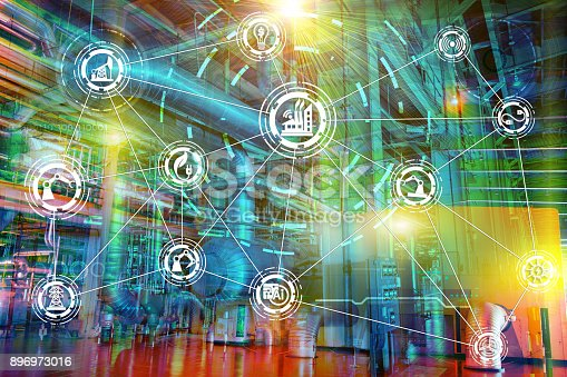 istock Internet of things network 896973016