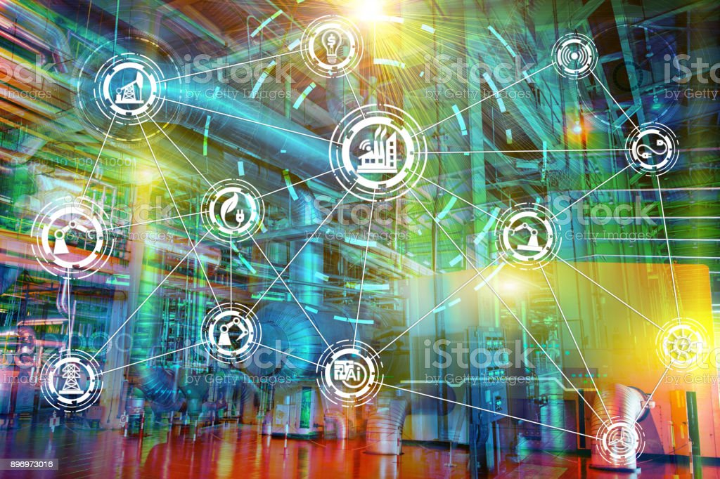 Internet of things network stock photo