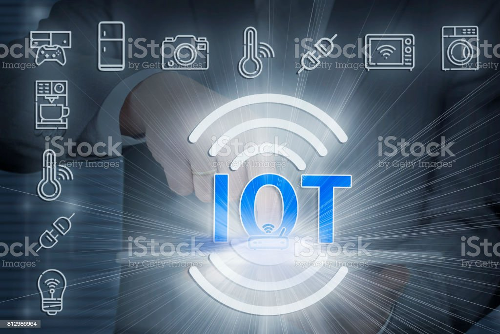 IOT - internet of things stock photo