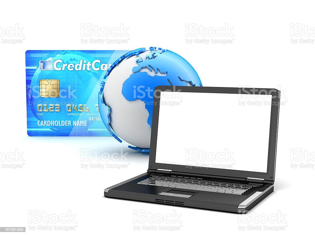 Internet payments royalty-free stock photo